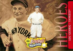 2005-UPPER-DECK-BASEBALL-HEROES-155-LOU-GEHRIG-RED-PARALLEL-SP-UD-20-75