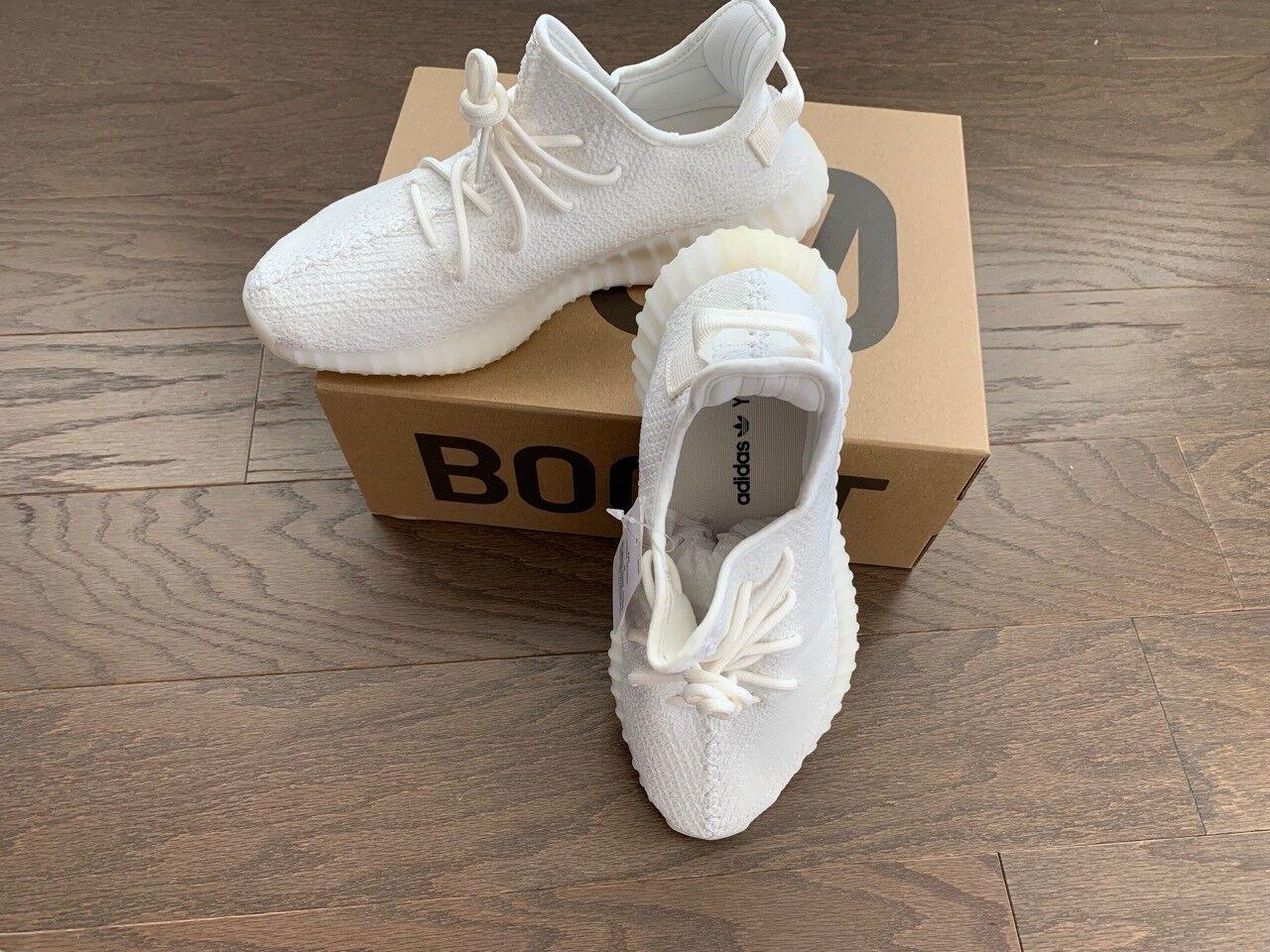 Neue adidas yeezy auftrieb 350 v2 triple weiße größe 10.bereit zum verschicken.cp9366
