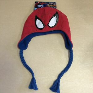 3bf555d654f Image is loading Marvel-Ultimate-Spider-Man-Laplander-Hat-Halloween-Costume-