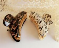 Chanel Hair Clips Set Of 2 US SELLER. Promo. FREE Cashmere Hair Tie, See Pics.