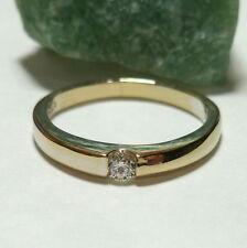 Toller Ring Weißgold 58 (18,5 mm Ø) 750/18k Gold Brillant 0,10ct Diamant