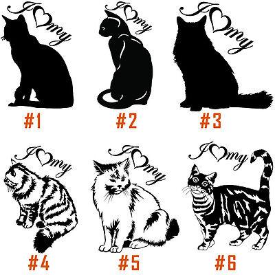 Cute Cat Animal Sticker Decal Cartoon Vinyl Sticker Laptop Car Window!