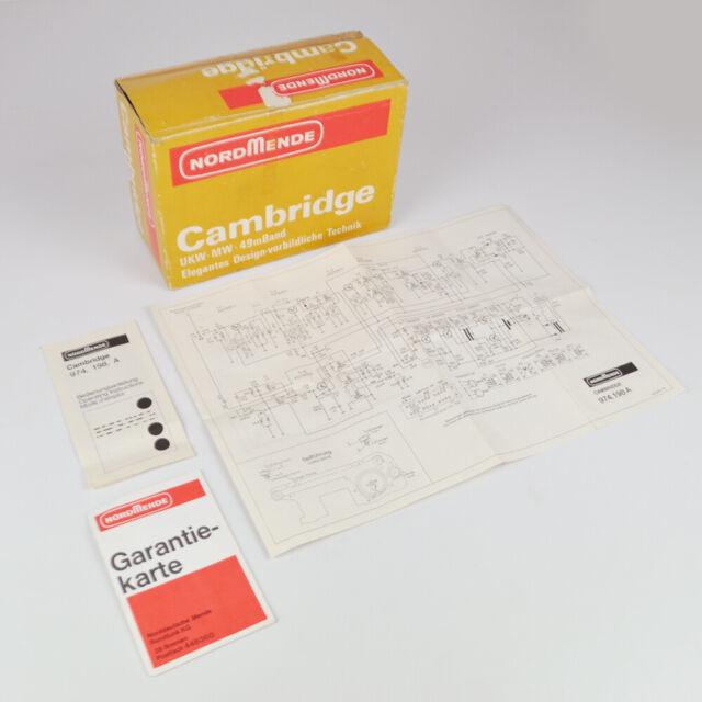 Nordmende Cambridge - Empty Box - Manual