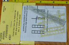 Plano #301  Platform Walkway for Funnel-Flow Tank Car -- Wm. K. Walthers (HO)