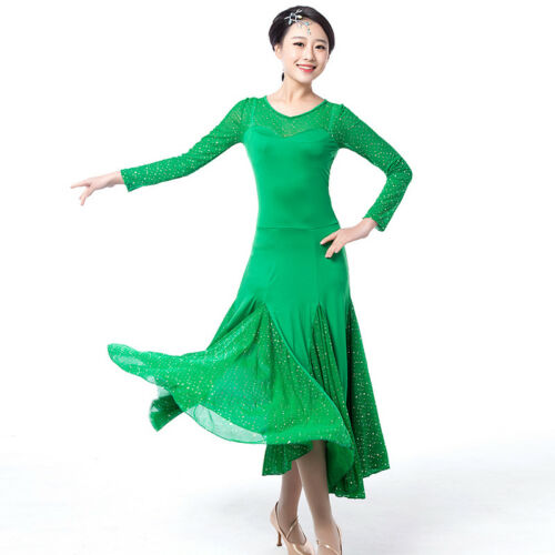 Latin Ballroom Competitio​n Dance Dress Modern Waltz Tango Standard Dress NN053