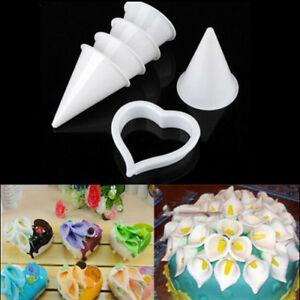 7x-Cake-Decor-Plunger-Cutter-Mold-Sugarcraft-Fondant-Tools-Calla-Lily-Flower-BDA