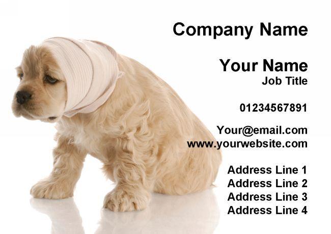 Vet VÉTÉRINAIRE visite chien malade cartes de visite VÉTÉRINAIRE personnalisées b958ef