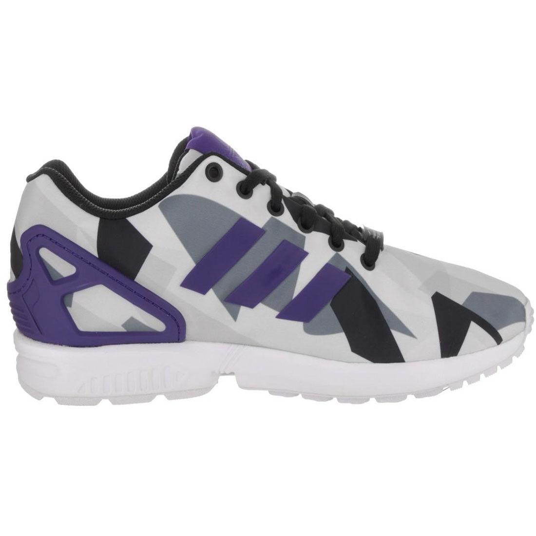 adidas Originals Unisex Running Trainers ZX Flux White Purple Torsion Shoes