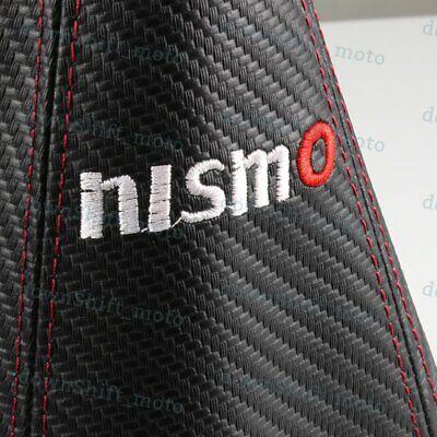MT//AT JDM TRD SPORT Carbon Look PVC Black//Red Stitch Shift Knob Shifter Cover