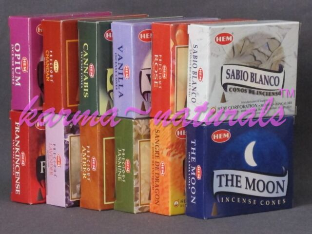 2 boxes HEM CONE INCENSE - 20 Cones Total - You Choose Scent - NEW