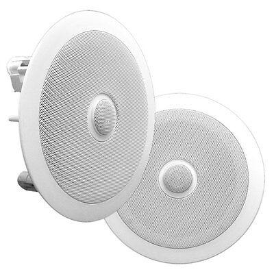 "4 Lot of Pyle PDPC82 8/"" In-Ceiling 2-Way Flush Mount Enclosure Speaker System"