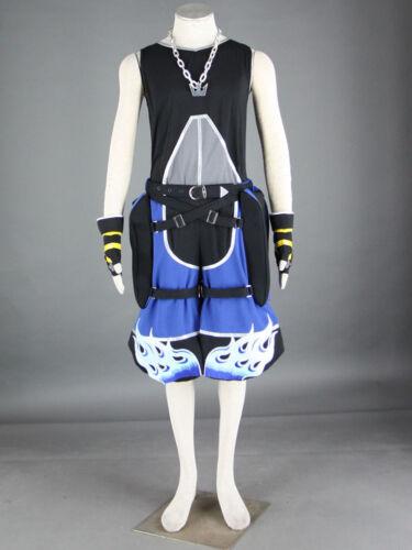 Kingdom Hearts Roxas Sora Cosplay costume Kostüm Kleidung set top neu blau blue