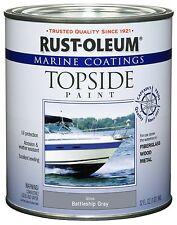 Rust-Oleum Marine Topside Paint, Battleship Gray, 1-Quart, 207005, Boat Ship