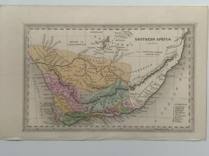 1834-SOUTH-AFRICA-HAND-COLOURED-ORIGINAL-ANTIQUE-MAP-BY-CARY-amp-LEA-186-YEARS-OLD