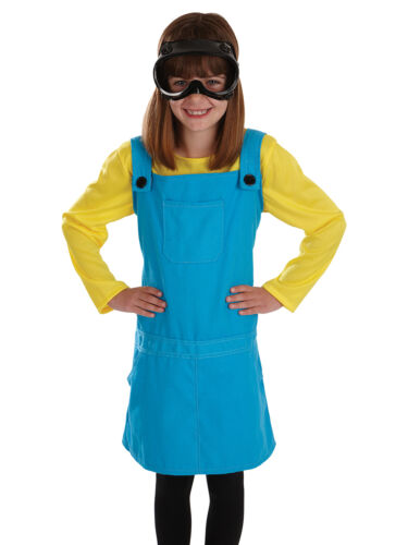 GIRLS DESPICABLE WELDERS GIRL MINIONS FANCY DRESS COSTUME