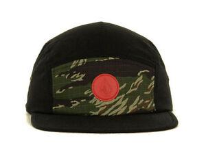 Volcom-Herren-schwarz-und-camo-camouflage-Camper-verstellbar-Strapback-Muetze