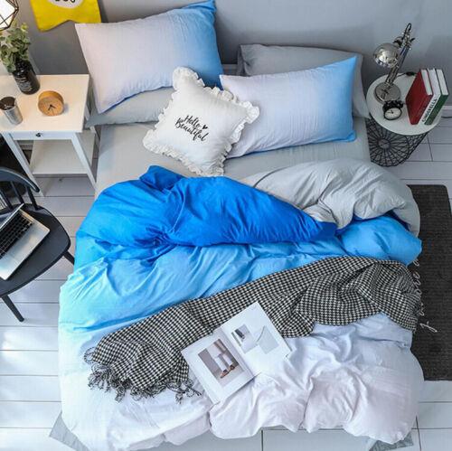 Four-piece set of color gradient bedding sheets