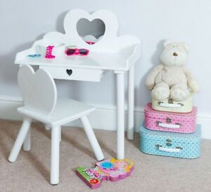 Children S Dressing Table Chair Set Girls Kids Dress Make Up