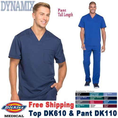 Dickies Scrubs Set DYNAMIX Men/'s New V-Neck Top /& Cargo Pant DK610//DK110 Tall