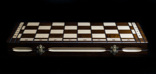 Brand New ♚Hand Crafted  Wooden Chess Set Tournament  47.5cm x 47.5cm♞