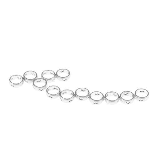 12 Stück Metall Ringe Schaftringe O-Ringe Schutzringe für
