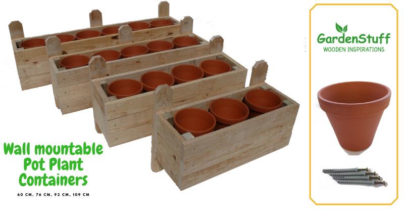 Wall Mountable Flower Pot Boxes from GardenStuff