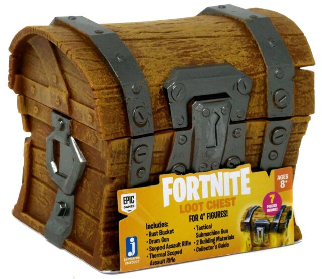jazwares fortnite loot chest set for 4 figures tactical submachine gun drum - fortnite tactical submachine gun