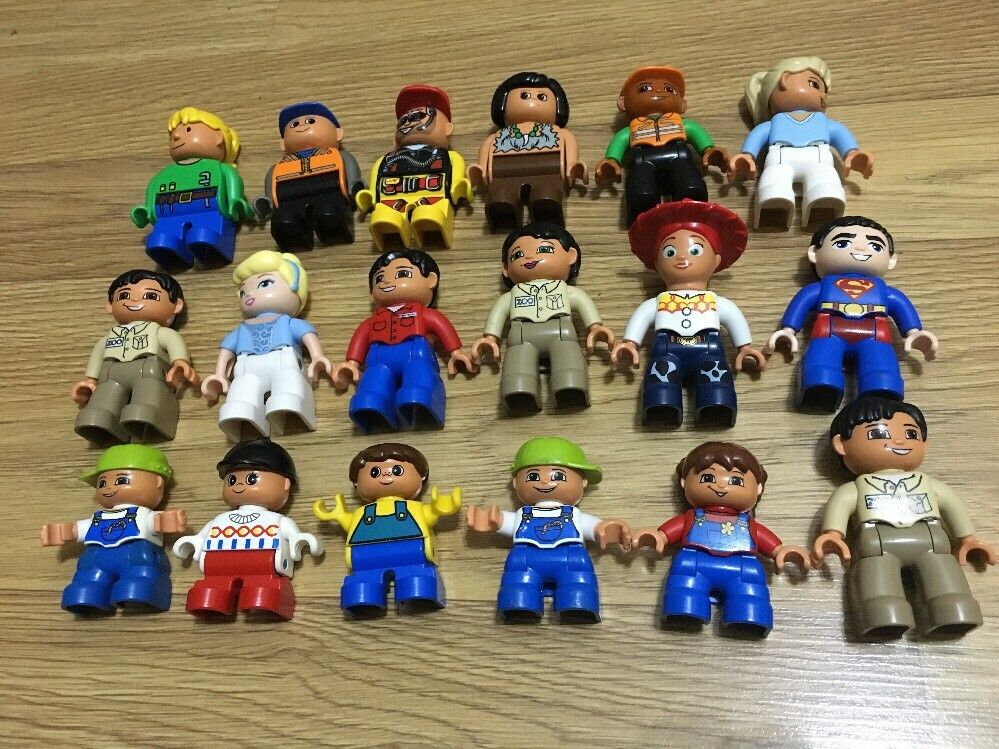 18x Lego Duplo Mini Figures As Pictured Toy Story Superman Zoo Princess