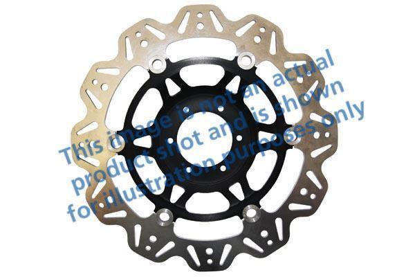 Para Ducati 1098 07>08 EBC VR Disco Negro Cubo Central / Resistente Delantero