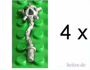 LEGO-4-x-Morgenstern-silber-perl-hellgrau-Spiked-Flail-59232-NEUWARE