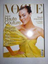 Magazine VOGUE PARIS mode French #765 mars 1996 cover Shalom Harlow