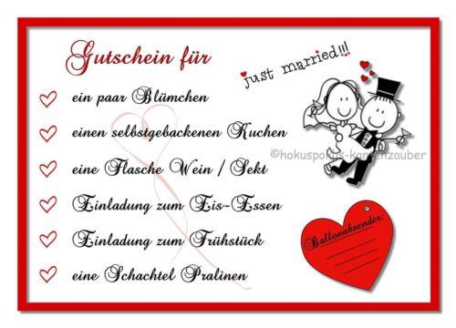 30 Ballonkarten Hochzeit Ballonflugkarten Gutschein Flugkarten Hochzeitsspiel