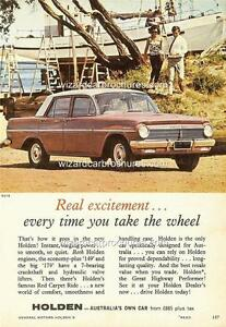 1964 EH HOLDEN SEDAN A3 POSTER AD SALES BROCHURE ADVERTISEMENT ADVERT
