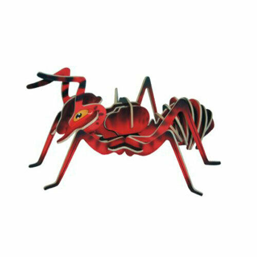 Fourmi-Couleur 3 D Holzbausatz animal insectes bois Steckpuzzle Holzpuzzle Enfants