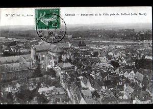 """ARRAS (62) VILLAS & EGLISE vues du BEFFROI en 1909 - France - État : Occasion : Objet ayant été utilisé. Consulter la description du vendeur pour avoir plus de détails sur les éventuelles imperfections. Commentaires du vendeur : """"CORRECT"""" - France"""