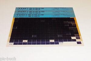 Microfich Spare Parts Catalog Tcm Fork-Lift/Forklift Truck Fbl 10 02/1990