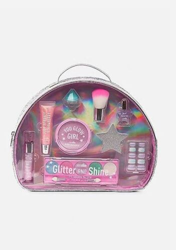 NEW Retail $39.90 Justice Girls Just Shine Mega Beauty Kit Makeup Bag Gift Set