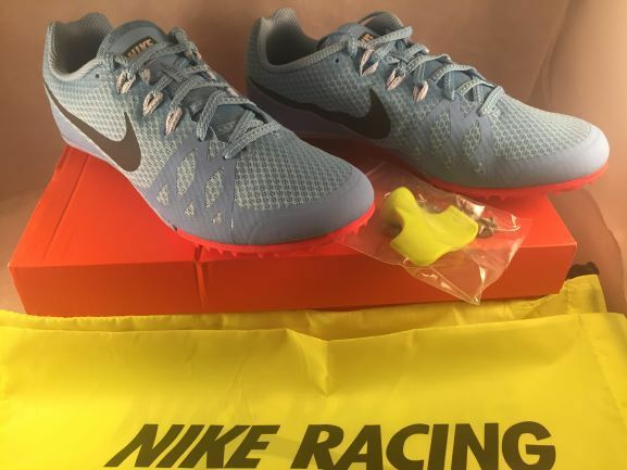 new style f691c e0eb2 Nike Womens 12 Zoom Rival M Multi Use Track Spikes Blue 806559-446 W  Spikes  for sale online   eBay