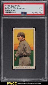 1909-11-T206-Roger-Bresnahan-WITH-BAT-TOLSTOI-PSA-3-VG