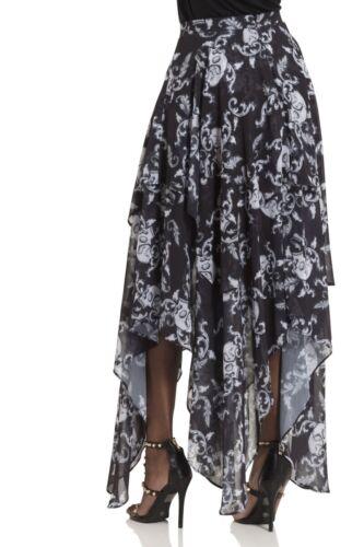 Jawbreaker Alternative Gótico Mujer Moda Vestido Estampado De Calavera Banshee Imperio Reino Unido
