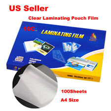 100sheets A4 Letter Size Clear Laminating Pouch Film For Thermal Hot Laminator