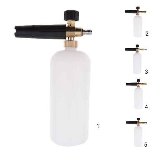 einstellbare Schneeschaum Lanze Kanone Waschflasche Flaschendruck