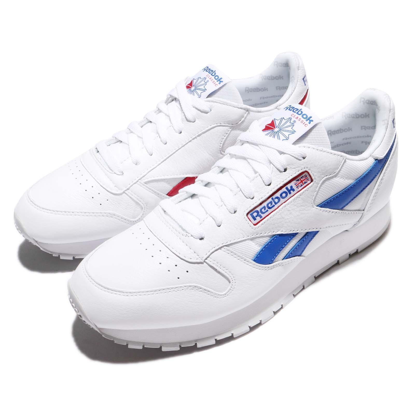 Reebok CL Leather SO White Blue Red uomo Vintage Classic Shoes Sneakers BS5210 Scarpe classiche da uomo