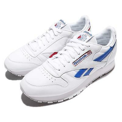 Reebok CL Leather SO White Blue Red Men Vintage Classic Shoes Sneakers BS5210