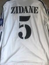 Real Madrid Jersey Home Zidane 2002 Centenario Champions League Sz L Long Sleeve