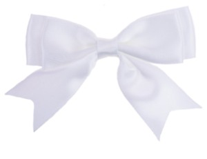 White-Large-8-5cm-25mm-Satin-Ribbon-Ready-Made-Craft-Double-Bows-Pack-of-5