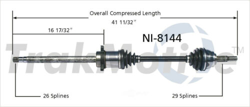 CV Axle Shaft Front Right SurTrack NI-8144 fits 04-09 Nissan Quest