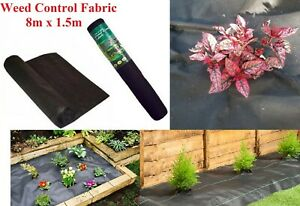 PAVING DECKING WEED GUARD CONTROL LANDSCAPE FABRIC 8M x 1.5M ROLL MEMBRANE SHEET
