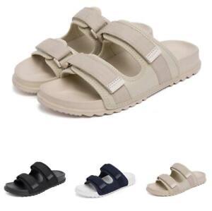 Mens Open Toe Walking Sports Flats Slip on Casual Summer Beach Slippers Shoes B