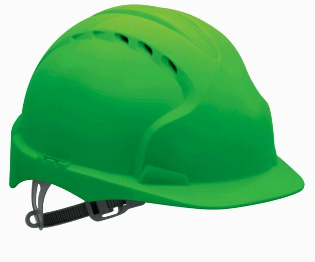JSP Red Evo2 Vented Safety Helmet Hard Hat Standard Peak Builders Work PPE